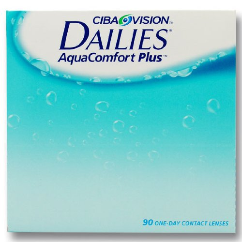 Ciba Vision Focus Dailies AquaComfort Plus Tageslinsen weich, 90 St&#252;ck / BC 8.7 mm / DIA 14.0 / +1,25 Dioptrien