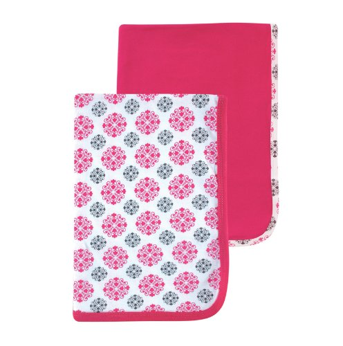 Yoga Sprout Receiving Blankets, Pink Medallion, 2 Count - 1