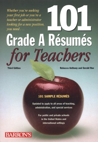 101 grade a resumes for teachers - Private School Administration Sample Resume