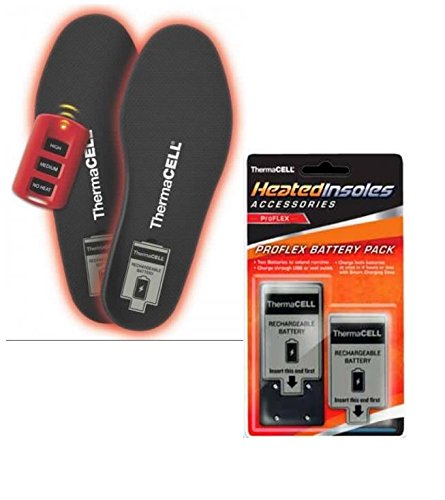 ThermaCELL Heated Insoles ProFLEX X-Large With Extra Battery