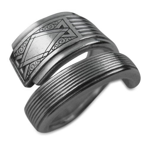 Art Deco Spoon Ring, Noblesse By Oneida, Sizes 6-12 (8) (Spoon Ring Oneida compare prices)