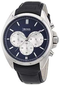 Hugo Boss Herren-Armbanduhr XL Chronograph Quarz Leder 1512882