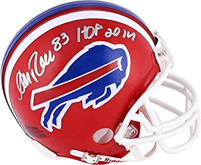 Andre Reed Buffalo Bills Autographed Riddell Mini Helmet with HOF 2014 Inscription - Fanatics Authentic Certified