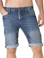 Deeluxe 74 - Bermuda Homme En Jeans Délavé