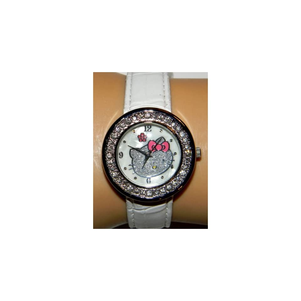 Miss Peggy Jos   Hello Kittys ya301w Quartz Movement Watch**comes with a Hello Kitty Necklace***2 3 Days From Order to Your Door***