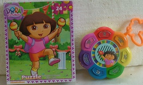 Dora Explore 24 Piece Puzzle & Dora Talking Toy .2002