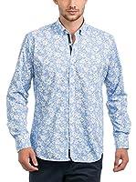 JACK WILLIAMS Camisa Hombre (Azul / Blanco)