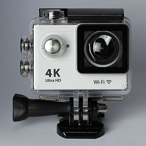 Annpadar@ 4K Ultra HD Sports Camera with WIFI wireless 2Inch LCD 12MP 170 Degree Wide Angle+ Micro Hdmi 30m Waterproof Sports Outdoor Diving Car Recorder Helmet Include Accessories (White)