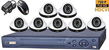 Puffin-8-CH-HDCVI-Dvr-(With-7-HD-720P-Night-Vision-Dome-Cameras)