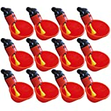 12 Pack of Automatic Poultry Waterer Chicken Drinker Cups