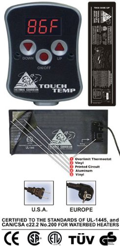 Touch Temp Digital Dial Heater front-657950