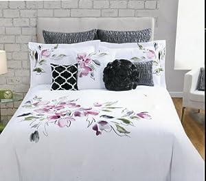 max studio home embroidered floral king duvet amp shams set
