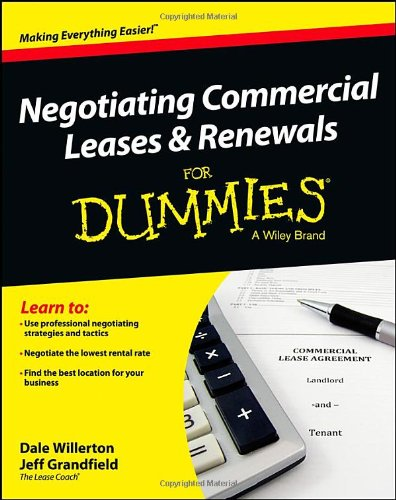 Download Negotiating Commercial Leases & Renewals For Dummies