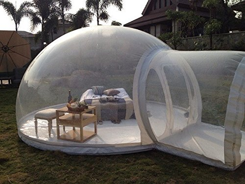 HolleywebTM Inflatable Bubble Tent House Dome Outdoor Clear Show Room with 1...