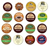 16 K-cup Craving Sweets Flavored Sampler, Guaranteed 16 Different Flavors of K-cups for your sweet tooth! Butter Toffee, Mudslide, Kahlua+