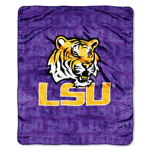 IFS - LSU Tigers NCAA Micro Raschel Blanket (Grunge Series) (46in x 60in) at Amazon.com