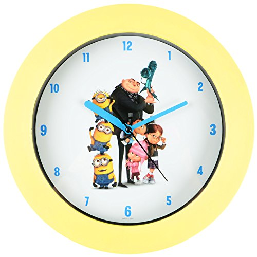 minions kinder uhr wanduhr f r kinderzimmer dekoration wanddeko ean 5033998234503 kinder. Black Bedroom Furniture Sets. Home Design Ideas
