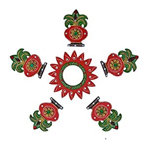 Amazon.com: eCraftIndia Decorative Floor Rangoli - Kalash Design