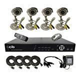 51F2luYmenL. SL160 CIB K404W500G8752 4CH Network Security Surveillance DVR w/ Four CCD Cameras S...