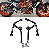 FATExpress Motorcycle CNC Aluminum/Front Rear Axle Fork Wheel Crash Protector Slider Cap Pads for 2015-2016 Yamaha YZF R25 R3 15-16 Titanium