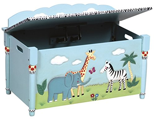 Coffre de Rangement motifs safari, 44.4 x 76.2 x 57.2 cm -PEGANE-