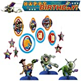Toy Story Game Time Party Decorations Kit Including Centerpieces, Hanging Decorations and Banner