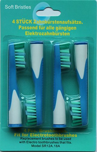 Generic Replacement Brush Heads Sonic Compatible With Oral-B Toothbrush Pack Of 4 Pcs (4)