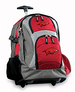 University of Arkansas Rolling Backpack Deluxe Red Arkansas Razorbacks Backpack