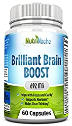 *Brilliant Brain Booster *Supports Mental Clarity, Helps Improve Focus & Clarity *Reduces Brain Fog and Keeps You Alert *Helps Reduce Mental Stress