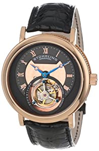 Stuhrling Original Men's 502.334XK54 Tourbillon Circular Limited Edition Mechanical Rose Tone Watch