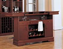 Big Sale Classic Bar Table in Cherry Finish by Coaster Furniture