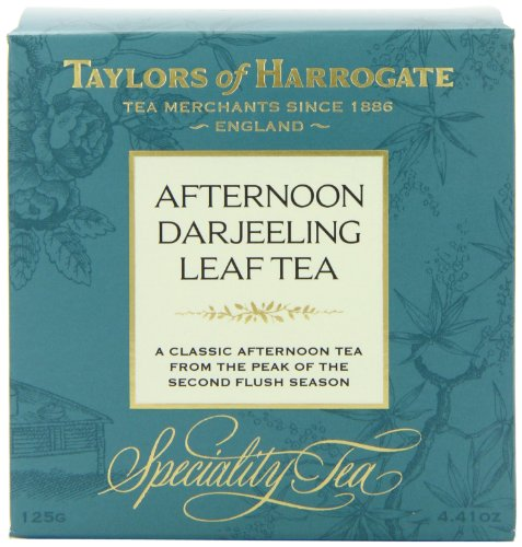 Taylors of Harrogate Afternoon Darjeeling Leaf Tea, Loose Leaf, 4.41-Ounce Boxes (Pack of 6)
