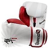 Hayabusa Ikusa Boxing Training Gloves - 14oz White/Red
