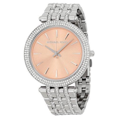 Michael Kors Darci Rose-Gold-Tone Dial Steel Crystal Ladies Watch Mk3218