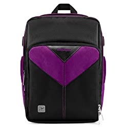 MyVangoddy Canon EOS 100D / Rebel SL1 Purple Sparta Collection SLR Camera Backpack