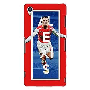 Jugaaduu Arsenal Alexis Sanchez Back Cover Case For Sony Xperia Z3