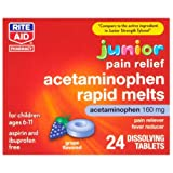 Rite Aid Acetaminophen, Rapid Tabs Grape Flavor 24 ea