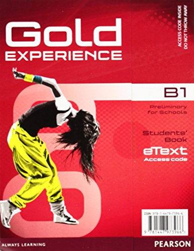 Gold Experience B1 eText Student Access Card