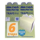 6 Pantry Moth Traps | All Natural, No Pesticide Pheromone Lures | Money Back Guarantee