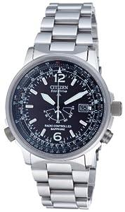 Citizen AS2031-57E - Reloj de cuarzo para hombre con correa de piel, color rojo