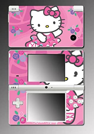 Hello Kitty Pink Princess Fairy Cute Girl Cat Kitten Vinyl Decal Cover Skin Protector #7 for Nintendo DSi