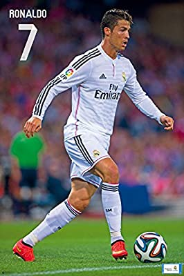 Cristiano Ronaldo Real Madrid | Action Poster Season 2015 | Ships from USA