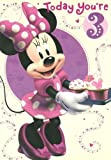 Disney Minnie mouse birthday card for age 3