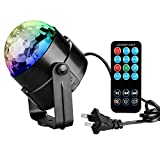 Coidea Led Stage Projector Party Lights Ball Disco 3W RGB Chrimas Stage Lighting for Xmas Party Wedding Show Club Pub Disco DJ with Control Remote