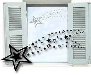 fenstertattoo sternschnuppe weihnachtsdekoration. Black Bedroom Furniture Sets. Home Design Ideas