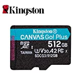 Kingston 512GB microSDXC Canvas Go Plus 170MB/s Read UHS-I, C10, U3, V30, A2/A1 Memory Card + Adapter (SDCG3/512GB) (Color: Canves Go Plus, Tamaño: 512GB)