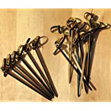 Cocktail sticks Black & Tan bamboo sword Japanese style 8cm X 100