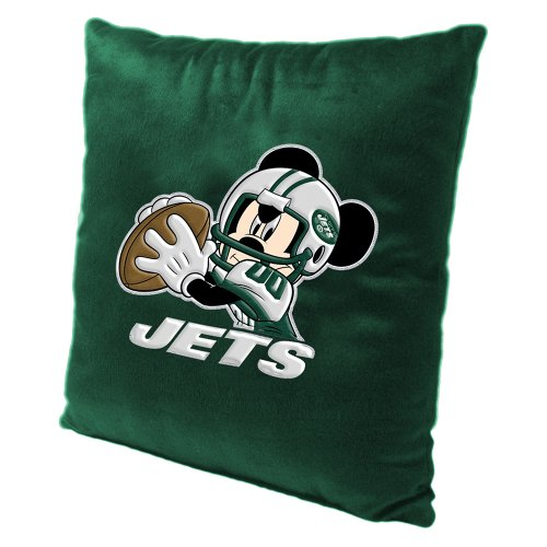 New York Jets NFL and Disney's Mickey Mouse Plush Toss Pillow (16in x 16in)