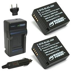 Wasabi Power Battery and Charger Kit for Panasonic DMW-BLE9 DMW-BLE9E DMW-BLE9PP and Panasonic Lumix DMC-GF3 DMC-GF5