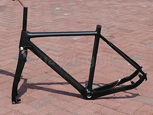 603-Toray-Carbon-Full-Carbon-UD-Glossy-Road-Bike-BB30-Rahmen-55-cm-Gabel-Headset